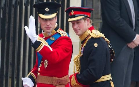 Happier times: Prince William and Prince Harry arriving at Westminster Abbey for the Royal Wedding of Prince William & Catherine Middleton - Credit:  Geoff Pugh