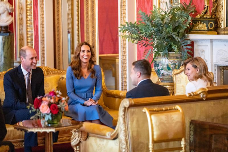The Duke and Duchess of Cambridge hosted an audience at Buckingham Palace. (Kensington Palace)