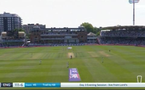 View at Lords on Saturday - Credit: Sky