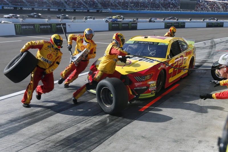 Logano can't defend NASCAR title after mystery slide
