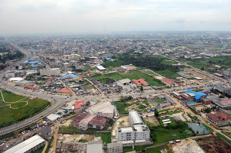 Aerial view of Nigeria's Port Harcourt where the international airport has been voted the worst in the world on travel website, sleepinginairports.net based on feedback from thousands of travellers