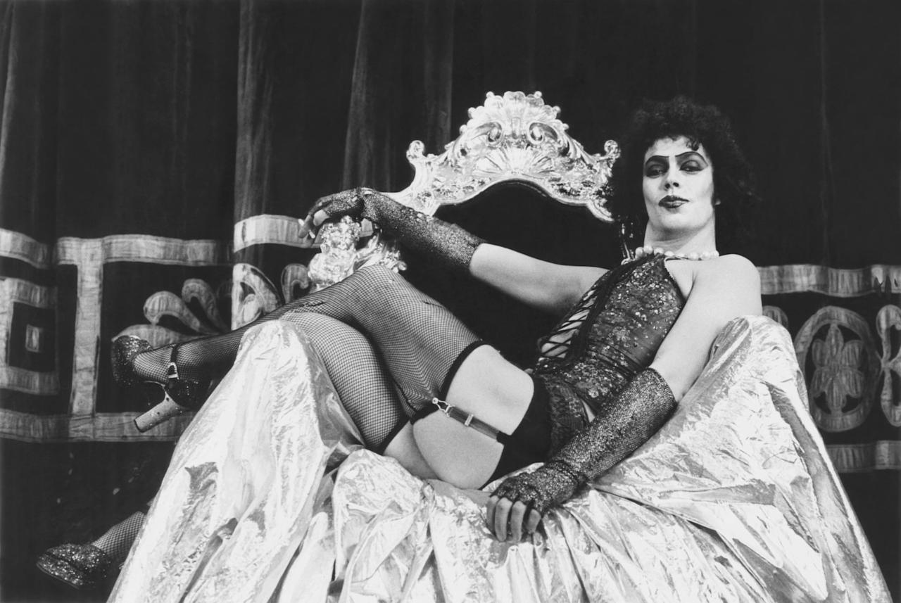 """<p>Married couple Brad (Barry Bostwick) and Janet (Susan Sarandon) stumble upon the mansion of Dr. Frank-N-Furter (Tim Curry) after they get a flat tire. They soon discover that Dr. Frank-N-Furter's abode is all but ordinary as they meet <a href=""""https://www.popsugar.com/entertainment/Rocky-Horror-Picture-Show-Costumes-32058704"""" class=""""ga-track"""" data-ga-category=""""Related"""" data-ga-label=""""https://www.popsugar.com/entertainment/Rocky-Horror-Picture-Show-Costumes-32058704"""" data-ga-action=""""In-Line Links"""">all sorts of crazy characters</a>, including creepy siblings Riff Raff and Magenta, as well as Frank-N-Furter's own creation, Rocky Horror. Get ready to <a href=""""https://www.popsugar.com/entertainment/Rocky-Horror-Picture-Show-Soundtrack-2016-42262388"""" class=""""ga-track"""" data-ga-category=""""Related"""" data-ga-label=""""https://www.popsugar.com/entertainment/Rocky-Horror-Picture-Show-Soundtrack-2016-42262388"""" data-ga-action=""""In-Line Links"""">sing and dance</a> through this cult classic.</p>"""