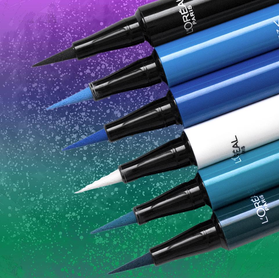 "<p>Available in an array of vibrant colors, this high precision liner comes equipped with a 0.1mm felt tip applicator that ensures your sleekest and smoothest eye look yet. </p><p>$8 | Available at <a rel=""nofollow"" href=""https://click.linksynergy.com/fs-bin/click?id=93xLBvPhAeE&subid=0&offerid=436138.1&type=10&tmpid=19902&RD_PARM1=http%3A//www.target.com/p/l-oreal-174-paris-infallible-eye-paint-liner-300-black-party-0-034oz/-/A-51168772%3Fref%3Dtgt_adv_XS000000%2526AFID%3Dgoogle_pla_df%2526CPNG%3DPLA_Health%2BBeauty%2BShopping%2526adgroup%3DSC_Health%2BBeauty%2526LID%3D700000001170770pgs%2526network%3Dg%2526device%3Dc%2526location%3D1022762%2526gclid%3DCIiBwdLVwtMCFU5YDQodBY0PdQ%2526gclsrc%3Daw.ds&u1=ENBIBBWG"">Target</a></p>"