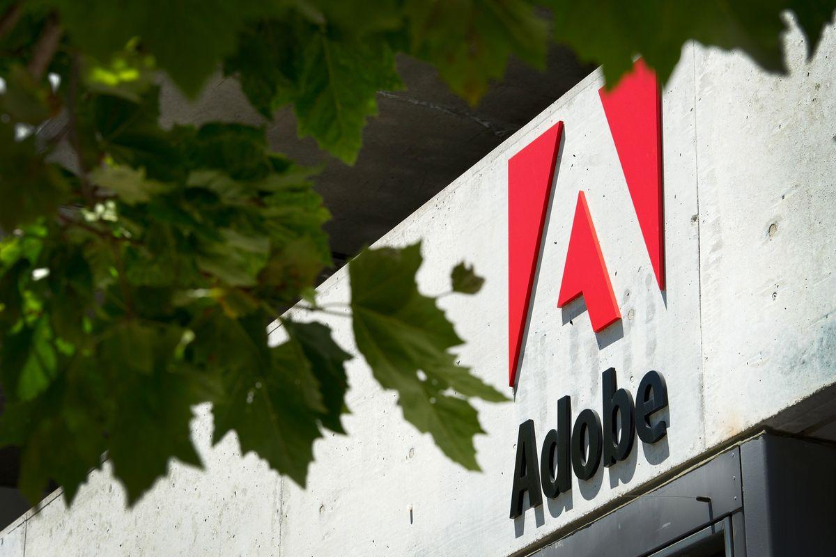 Adobe Systems Inc. signage is displayed outside of the company's office in San Francisco, California, U.S., on Tuesday, June 21, 2011. Adobe Systems Inc., the largest maker of graphic-design software, reported second-quarter sales that exceeded analysts' estimates, rebounding from a disruption in demand caused by the March earthquake in Japan. Photographer: David Paul Morris