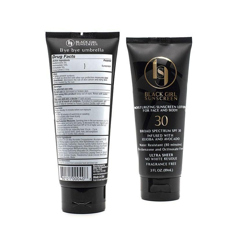 """<h2><a href=""""https://www.blackgirlsunscreen.com/"""" rel=""""nofollow noopener"""" target=""""_blank"""" data-ylk=""""slk:Black Girl Sunscreen"""" class=""""link rapid-noclick-resp"""">Black Girl Sunscreen</a></h2><br>We've all experienced the terrifying white-cast that appears on black skin after using a sunscreen that was not made for us, nor by us. This brand fixes that problem. <a href=""""https://www.instagram.com/shontay_lundy/"""" rel=""""nofollow noopener"""" target=""""_blank"""" data-ylk=""""slk:Shontay Lundy"""" class=""""link rapid-noclick-resp"""">Shontay Lundy</a> founded this company in 2016 and her sunscreen now boasts an impressive 3,899 reviews that average out to a solid 5-star rating. <br><br>This Black Friday, grab one Black Girl Sunscreen and <strong>get another one free</strong>. <br><br><em>Shop</em> <strong><em><a href=""""https://www.blackgirlsunscreen.com/"""" rel=""""nofollow noopener"""" target=""""_blank"""" data-ylk=""""slk:Black Girl Sunscreen"""" class=""""link rapid-noclick-resp"""">Black Girl Sunscreen</a></em></strong><br><br><strong>Black G, Black Girl Sunscreen</strong> Black Girl Sunscreen SPF 30, $, available at <a href=""""https://go.skimresources.com/?id=30283X879131&url=https%3A%2F%2Ffave.co%2F39lTQpp"""" rel=""""nofollow noopener"""" target=""""_blank"""" data-ylk=""""slk:Black Girl Sunscreen"""" class=""""link rapid-noclick-resp"""">Black Girl Sunscreen</a>"""