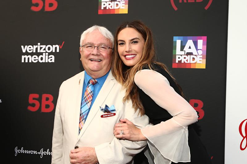 "WEST HOLLYWOOD, CALIFORNIA - JUNE 07: Elizabeth Chambers (R) and Cliff Morrison attend U.S. Premiere Of ""5B"", A Film Presented By RYOT, A Verizon Media Company, At Opening Night Of LA Pride at the Pacific Design Center on June 07, 2019 in West Hollywood, California. (Photo by Tommaso Boddi/Getty Images for Verizon Media )"