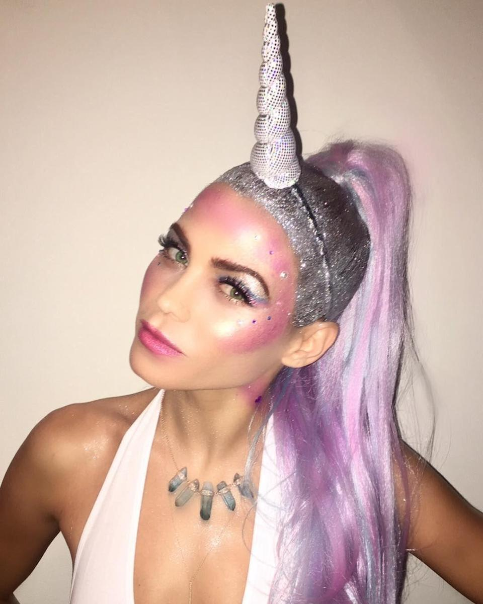 "<p>Jenna's *piercing* makeup look was essential to her mythical creature costume, which we're sure her daughter Everly absolutely loved. </p><p><strong>RELATED:</strong> <a href=""https://www.goodhousekeeping.com/holidays/halloween-ideas/g2599/halloween-costumes-with-makeup-ideas/"" rel=""nofollow noopener"" target=""_blank"" data-ylk=""slk:38 Elaborate Halloween Makeup Tutorials for Your Best Costume Yet"" class=""link rapid-noclick-resp"">38 Elaborate Halloween Makeup Tutorials for Your Best Costume Yet</a></p>"