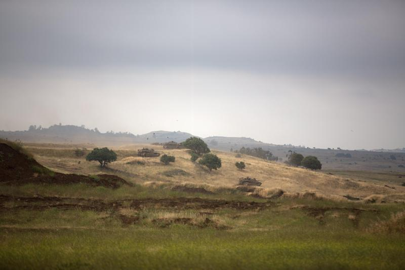 Israeli annexed Golan Heights, pictured near the Syrian border on May 19, 2014