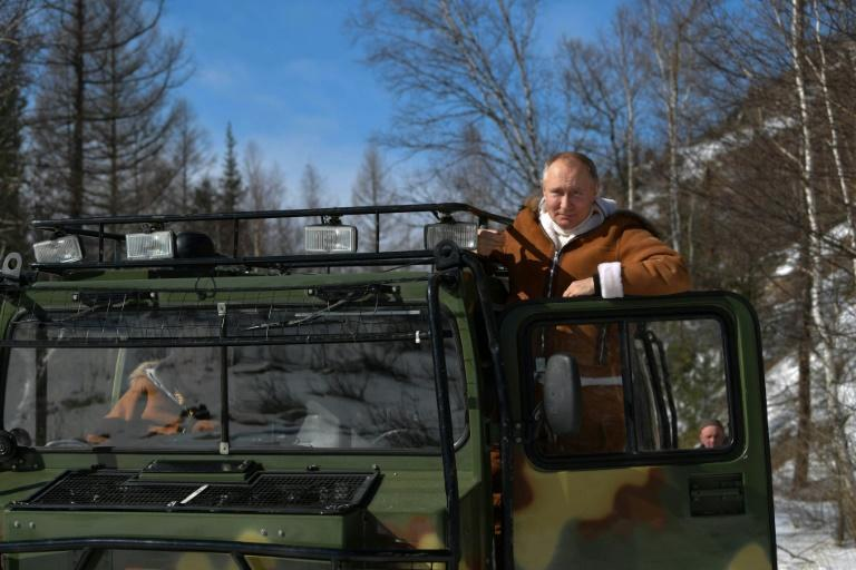 Kremlin footage showed him engaging in a variety of outdoor pursuits