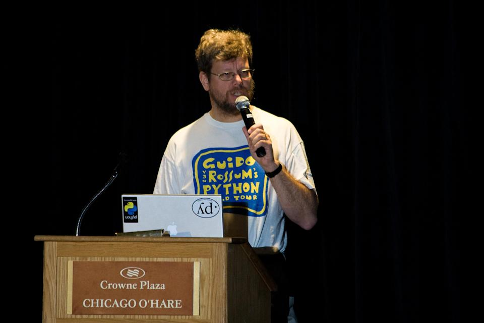 [UNVERIFIED CONTENT] Guido van Rossum during his keynote