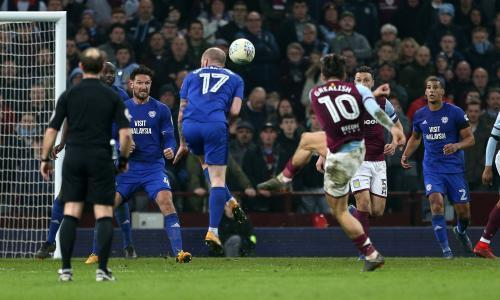 Jack Grealish's spectacular volley grabs late win for Aston Villa over Cardiff
