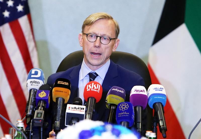 "Brian Hook, the US Special Representative for Iran, has called on nations around the world to ""urge Iran to de-escalate' after talks in Kuwait on June 23, 2019"