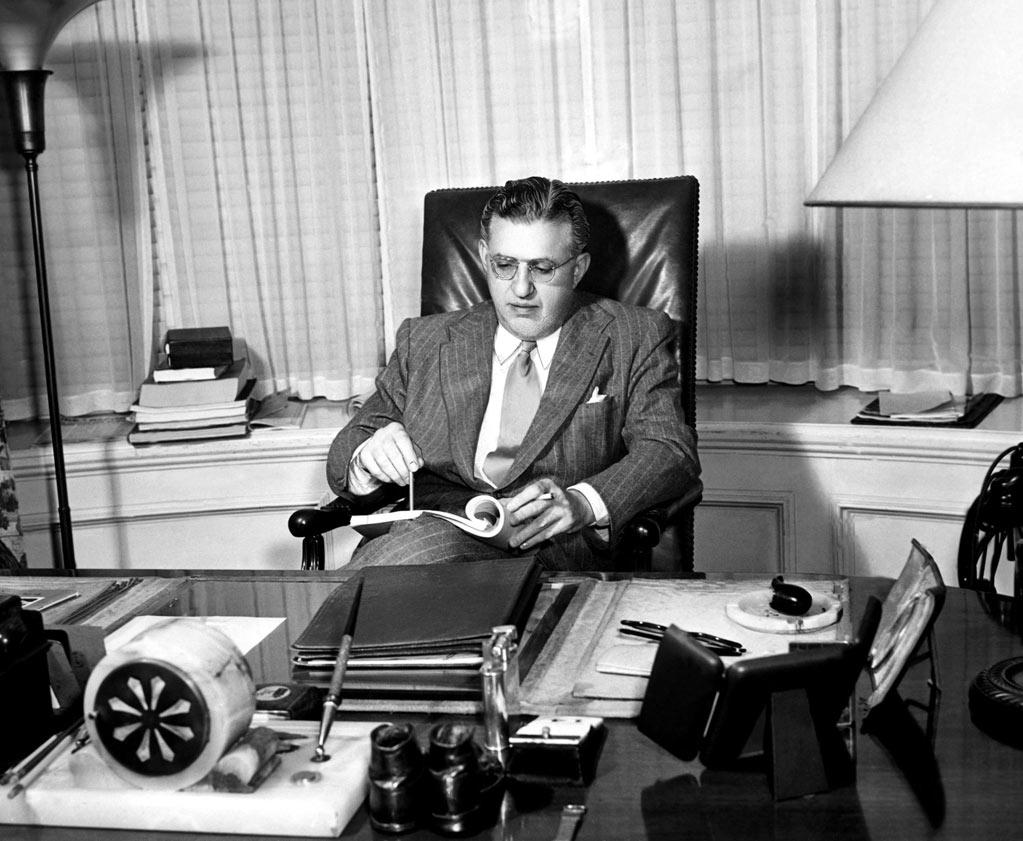 """1933   Legendary producer David O. Selznik became the new vice president of MGM on this day. Selznik had previously worked at MGM--where he met and married Louis B. Mayer's daughter, Irene--but he ventured out on his own to produce at Paramount and RKO, before starting his own production company. Prior to arriving back at MGM, Selznik had already procured the rights to """"Gone with the Wind"""" (1939), for an unheard of $50,000, and had agreed to let MGM distribute the Civil War epic in exchange for loaning him Clark Gable."""