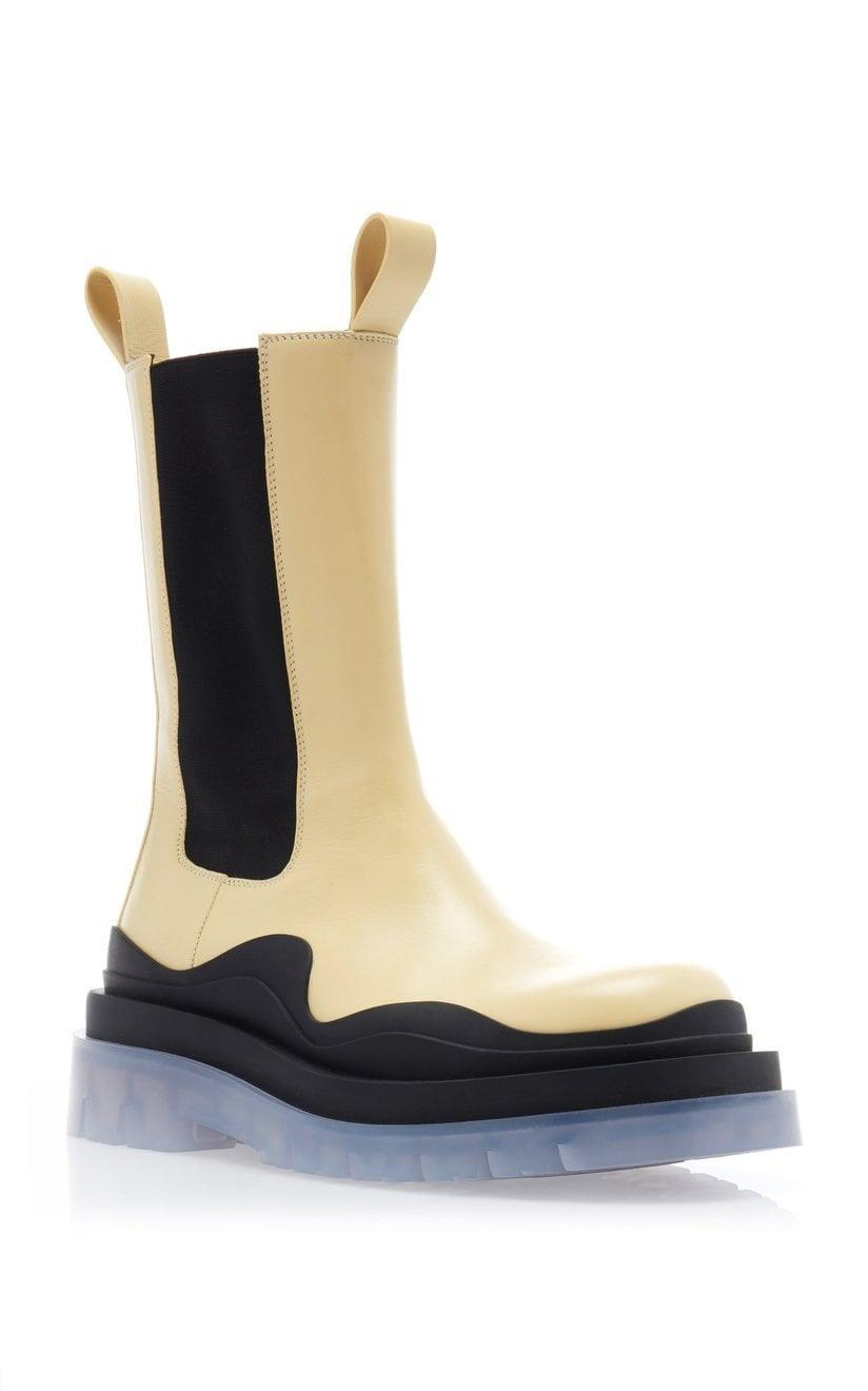 <p>These <span>Bottega Veneta BV Tire Boots</span> ($1,150) are going to be the shoe of the season, so snag yours while you can. The clear sole is so unique.</p>