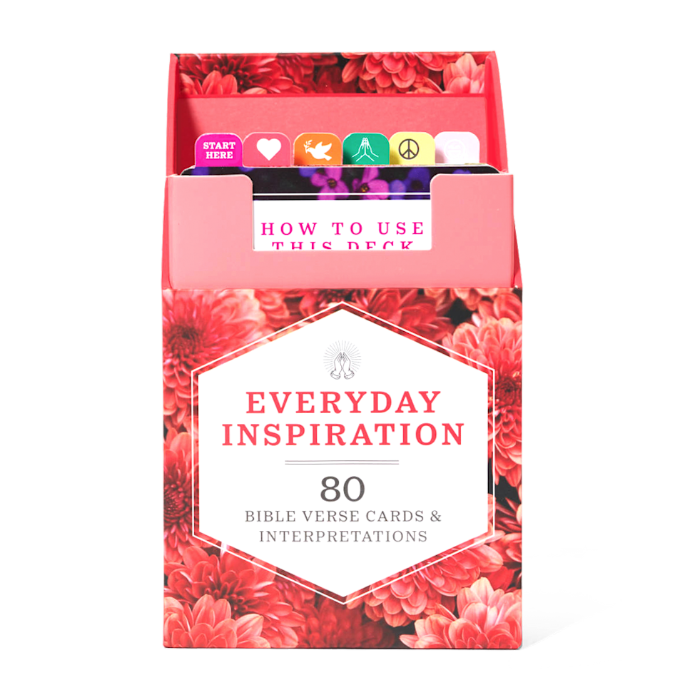 """<p>womansday.com</p><p><strong>$14.95</strong></p><p><a href=""""https://shop.womansday.com/everyday-inspiration.html"""" rel=""""nofollow noopener"""" target=""""_blank"""" data-ylk=""""slk:Shop Now"""" class=""""link rapid-noclick-resp"""">Shop Now</a></p><p>For the mom of faith, this boxed deck of the Bible's most mindful, encouraging, and soothing quotations is the perfect gift.</p>"""