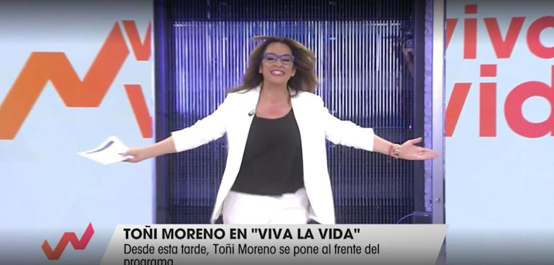 Toñi Moreno, en su regreso a 'Viva La Vida' (Telecinco) (Photo: TELECINCO)