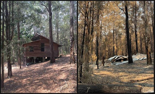 Photos shared by Russell Crowe of the devastation of the fires. Photo: Twitter/russellcrowe