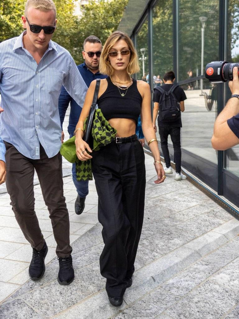 Hadid on the streets in Milan
