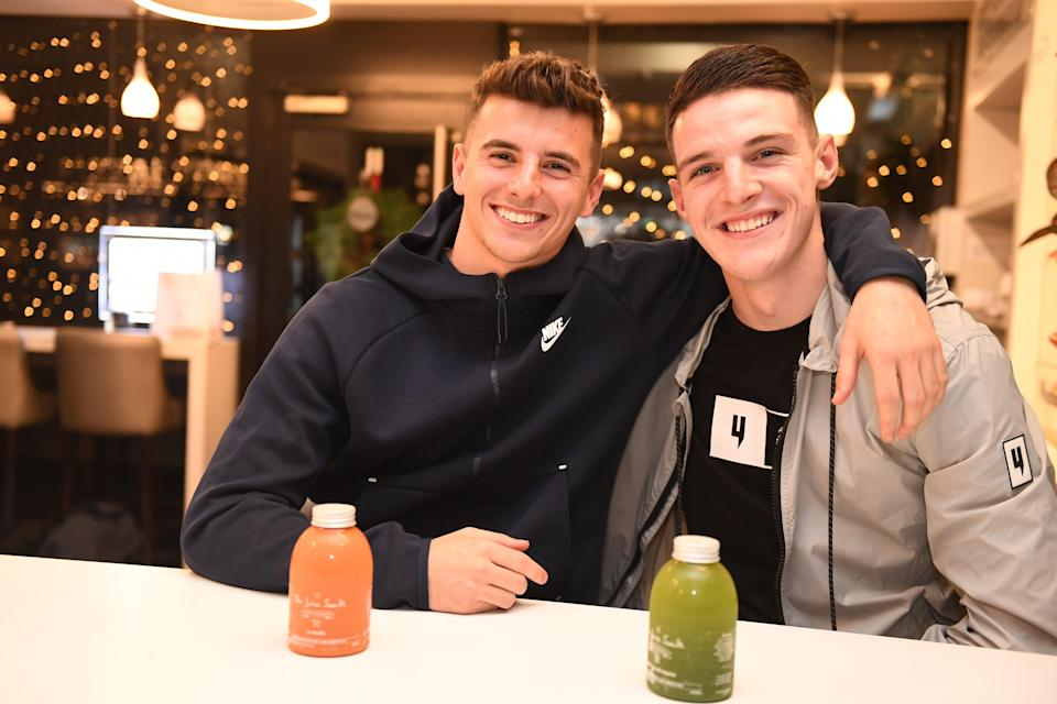 Rice with close friend Mason Mount (Andy Hooper/Daily Mail)