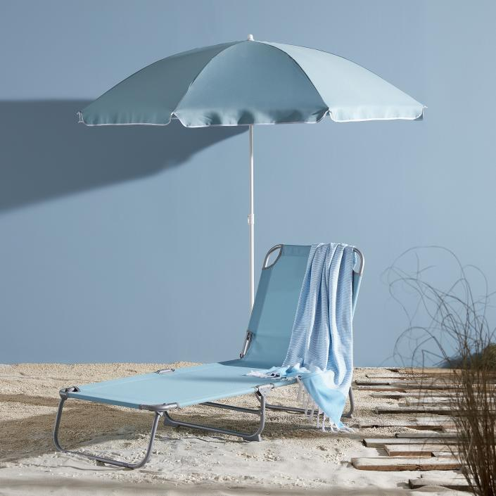 The affordable loungers come in three bold hues. (B&Q)