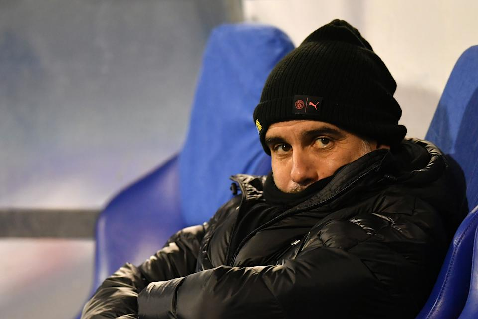 ZAGREB, CROATIA - DECEMBER 11: Pep Guardiola, Manager of Manchester City looks on prior to the UEFA Champions League group C match between Dinamo Zagreb and Manchester City at Maksimir Stadium on December 11, 2019 in Zagreb, Croatia. (Photo by Dan Mullan/Getty Images)