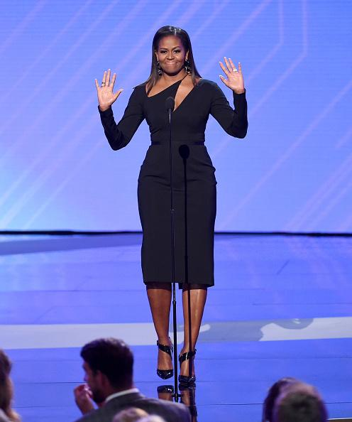 Former first lady Michelle Obama at the 2017 ESPYs in Los Angeles.
