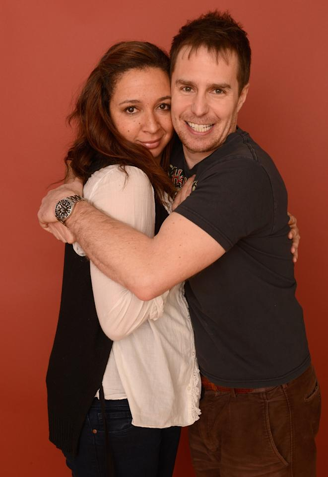 PARK CITY, UT - JANUARY 22:  Actors Maya Rudolph and Sam Rockwell pose for a portrait during the 2013 Sundance Film Festival at the Getty Images Portrait Studio at Village at the Lift on January 22, 2013 in Park City, Utah.  (Photo by Larry Busacca/Getty Images)