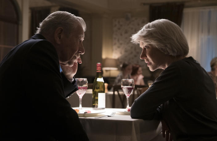 Ian McKellen as Roy Courtnay and Helen Mirren as Betty McLeish in Warner Bros. Pictures' and New Line Cinema's drama <i>The Good Liar</i> a Warner Bros. Pictures release.