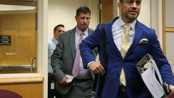 PHOTO: Michael Drejka, center, enters the courtroom, Aug. 22, 2019, in Pinellas County, Fla. (Scott Keeler/Tampa Bay Times via ZUMA Press)