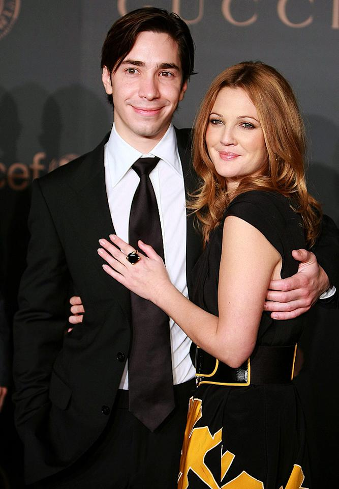"""Although they seemed like the perfect couple, Drew Barrymore broke yet another guy's heart when she called it quits with that Mac guy, Justin Long. Dimitrios Kambouris/<a href=""""http://www.wireimage.com"""" target=""""new"""">WireImage.com</a> - February 6, 2008"""