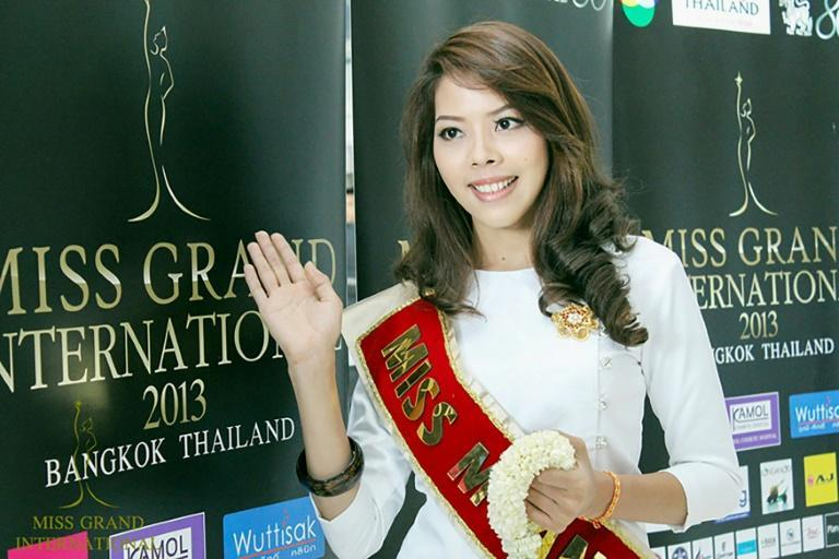 Htar Htet Htet represented Myanmar in the first Miss Grand International beauty pageant in Thailand in 2013