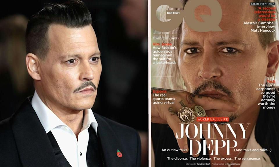 Johnny Depp's GQ cover critised