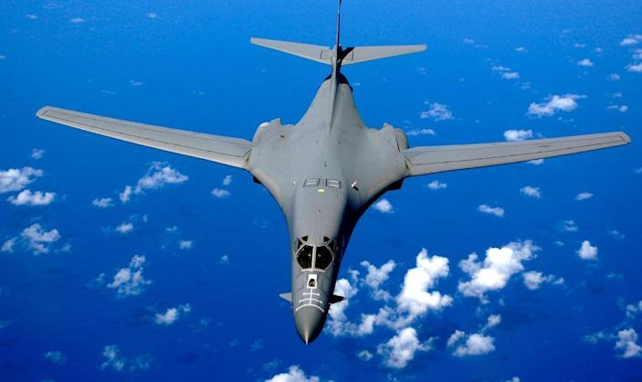 The B1-bomber is deployed to Andersen Air Force Base, Guam, as part of the US presence in the Asia-Pacific region (United States Air Force )