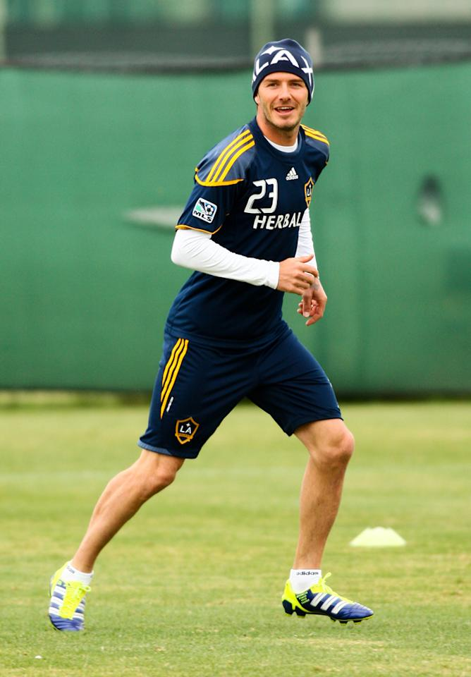 Although the soccer star got off to a slow start when he joined the Galaxy in 2007, he's been selected for the MLS Best XI for the first time in almost five years. Think he should stay and continue to play in L.A.?(11/11/2011)