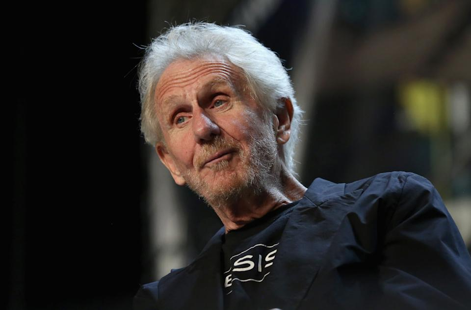 "LAS VEGAS, NV - AUGUST 05:  Actor Rene Auberjonois speaks at the ""Director's Cut"" panel during the 17th annual official Star Trek convention at the Rio Hotel & Casino on August 5, 2018 in Las Vegas, Nevada.  (Photo by Gabe Ginsberg/Getty Images)"