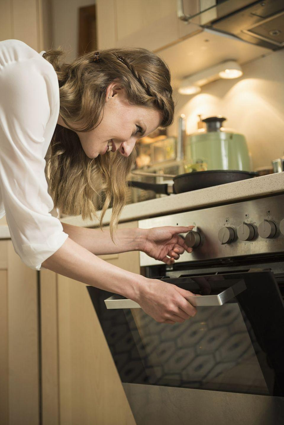 """<p>It sounds obvious, but it's so easy to forget to turn your oven on first thing. """"How often do you prep everything and then realize you forgot to put the oven on, so now you have to wait 20 minutes to get cooking?"""" Tchinnis points out. """"Same goes for the grill."""" </p><p>And the same goes for anything else that will take some time. """"A surefire way to take a 10 minute meal to a 20 minute meal is waiting for your pasta water to boil. Before I start the cooking process, I make sure my oven is fired, pans are heating, or water is coming to a boil. Then, when I'm ready to cook, there's no unnecessary waiting,"""" says chef <a href=""""https://www.instagram.com/dennistheprescott/"""" rel=""""nofollow noopener"""" target=""""_blank"""" data-ylk=""""slk:Dennis Prescott"""" class=""""link rapid-noclick-resp"""">Dennis Prescott</a>, co-host of the Netflix original series <em>Restaurants on the Edge. </em></p>"""