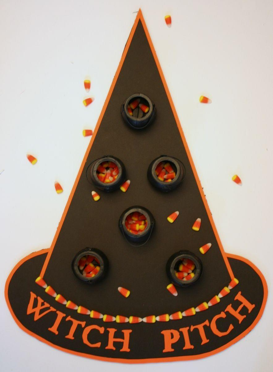 """<p>Mini cauldrons turn that oversized bag of candy corn into a carnival game. Who will sink the most sweet treats?</p><p><a class=""""link rapid-noclick-resp"""" href=""""https://www.amazon.com/Mat-Board-Center-Backing-Boards/dp/B018YLVGX6?tag=syn-yahoo-20&ascsubtag=%5Bartid%7C10055.g.2618%5Bsrc%7Cyahoo-us"""" rel=""""nofollow noopener"""" target=""""_blank"""" data-ylk=""""slk:SHOP FOAM CORE BOARD"""">SHOP FOAM CORE BOARD</a></p><p><em><a href=""""http://www.chicaandjo.com/2010/10/28/halloween-party-game/"""" rel=""""nofollow noopener"""" target=""""_blank"""" data-ylk=""""slk:Get the tutorial at Chica and Jo »"""" class=""""link rapid-noclick-resp"""">Get the tutorial at Chica and Jo »</a></em> </p>"""