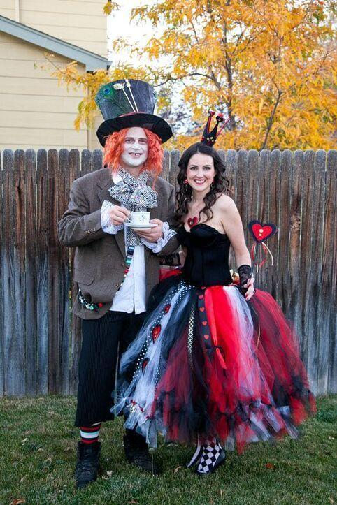 "<p>If you're open to a slightly more intense DIY project, check out this wickedly good <em>Alice In Wonderland</em> <a href=""https://www.countryliving.com/diy-crafts/g4616/diy-halloween-costumes-for-couples/"" rel=""nofollow noopener"" target=""_blank"" data-ylk=""slk:couples Halloween costume idea"" class=""link rapid-noclick-resp"">couples Halloween costume idea</a>. Whether you look to the tutorial creations as a loose guide or follow the instructions step by step, you're sure to come out with something great. </p><p><strong>Get the tutorial at <a href=""https://www.thefelthabit.com/blog/win-the-costume-contest-with-a-stunning-diy-queen-of-hearts-and-mad-hatter-costume"" rel=""nofollow noopener"" target=""_blank"" data-ylk=""slk:The Felt Habit"" class=""link rapid-noclick-resp"">The Felt Habit</a>.</strong></p><p><a class=""link rapid-noclick-resp"" href=""https://www.amazon.com/Craft-Party-fabric-wedding-decoration/dp/B01N11YL71/ref=sr_1_1_sspa?tag=syn-yahoo-20&ascsubtag=%5Bartid%7C10050.g.29343502%5Bsrc%7Cyahoo-us"" rel=""nofollow noopener"" target=""_blank"" data-ylk=""slk:SHOP RED TULLE"">SHOP RED TULLE</a><br></p>"