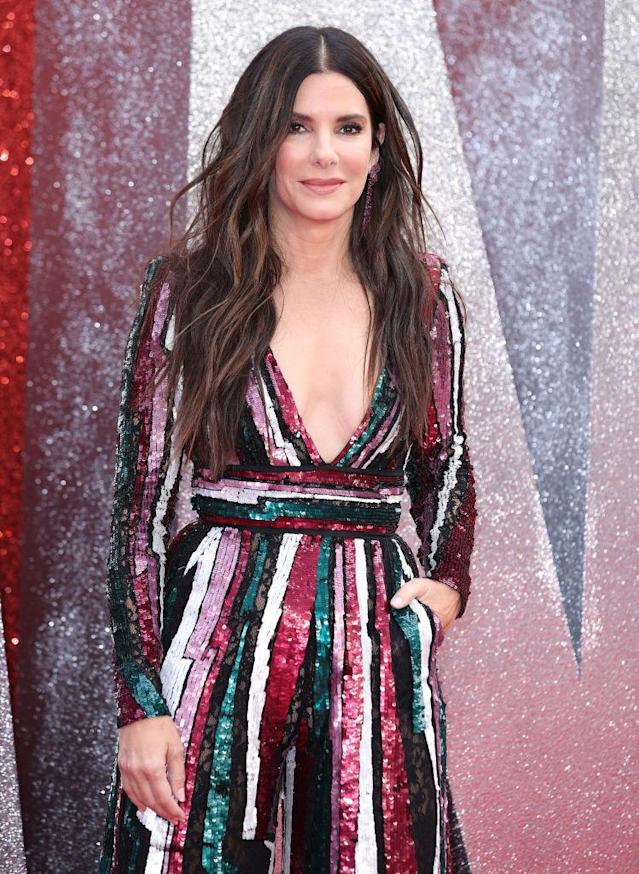 Sandra Bullock attends the U.K. <em>Ocean's 8</em> premiere in London on June 13. (Photo: Mike Marsland/Mike Marsland/WireImage)