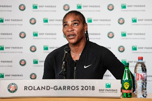 Pain game: Serena Williams announces her withdrawal from Roland Garros with injury (AFP Photo/Pauline Ballet)