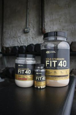 OPTIMUM NUTRITION introduces GOLD STANDARD FIT 40™, its first supplement line formulated for active adults ages 40 and over. At launch, the GOLD STANDARD FIT 40 family includes GOLD STANDARD FIT 40 MUSCLE RECOVERY PROTEIN, GOLD STANDARD FIT 40 TRAINING AND PERFORMANCE BOOSTER and GOLD STANDARD FIT 40 ACTIVE JOINT HEALTH.