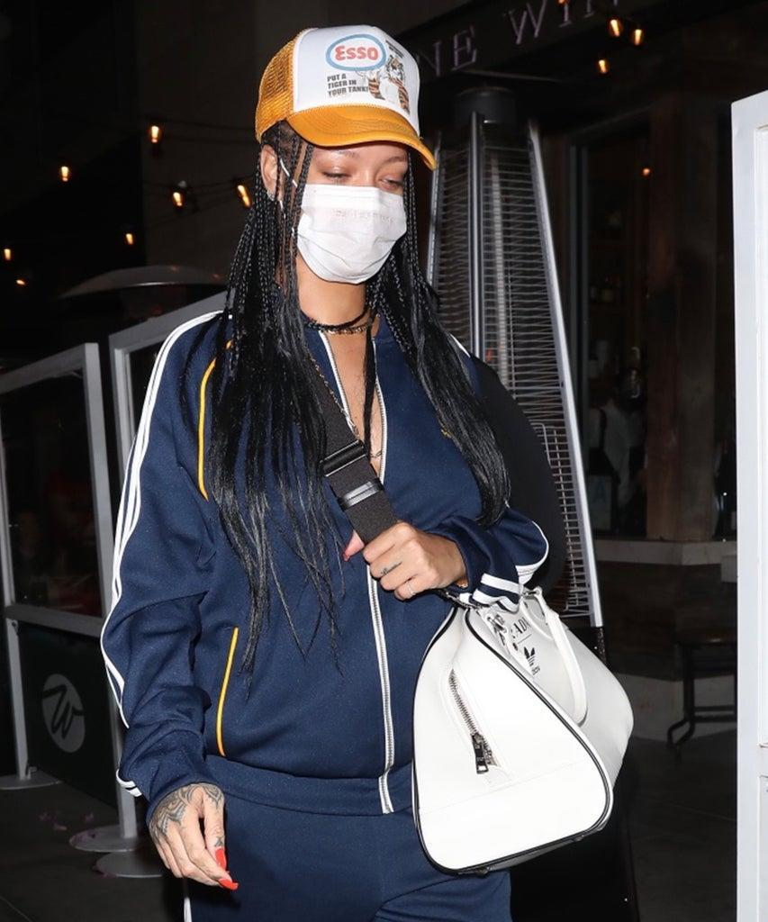 LOS ANGELES CA – APRIL 12: Rihanna is seen at Wallys on April 12, 2021 in Los Angeles, California. (Photo by 007 / photographer group /MEGA/GC Images)