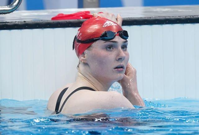 Freya Anderson performed anchoring duties for Team GB in the mixed 4x100m medley relay (Adam Davy/PA)
