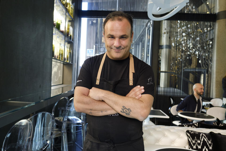 Chef Angel Leon poses during the inauguration of the Hotel Glass Urban in Madrid, Spain on  24 October 2017. (Photo by Oscar Gonzalez/NurPhoto via Getty Images)