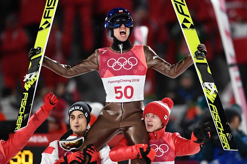 Winter Olympics: Poland's Kamil Stoch retains ski jumping large hill title