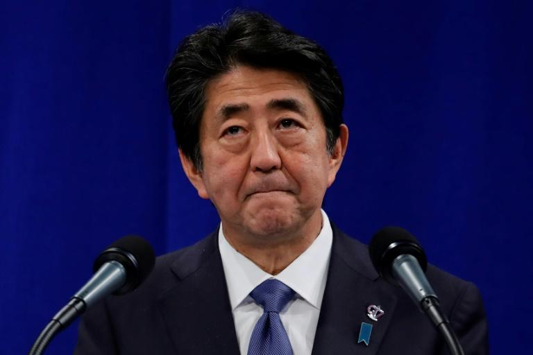 Japan's Prime Minister Shinzo Abe has come under fire from South Korea over his government's effective imposition of export restrictions (AFP Photo/Thomas SAMSON)