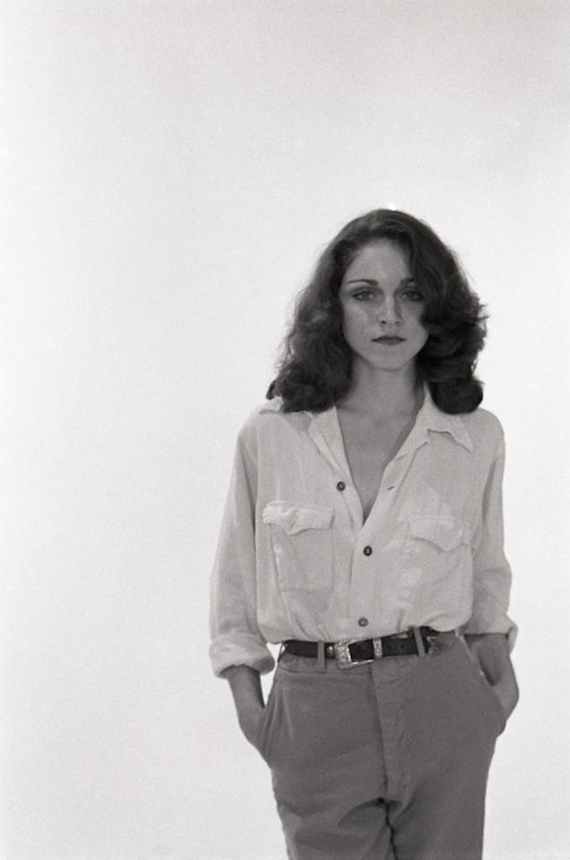 <p>Madonna Ciccone posa all'Art Worlds Institute of Creative Arts, nel 1978 ad Ann Arbor, nel Michigan. (Photo by Jeff Hochberg/Getty Images) </p>