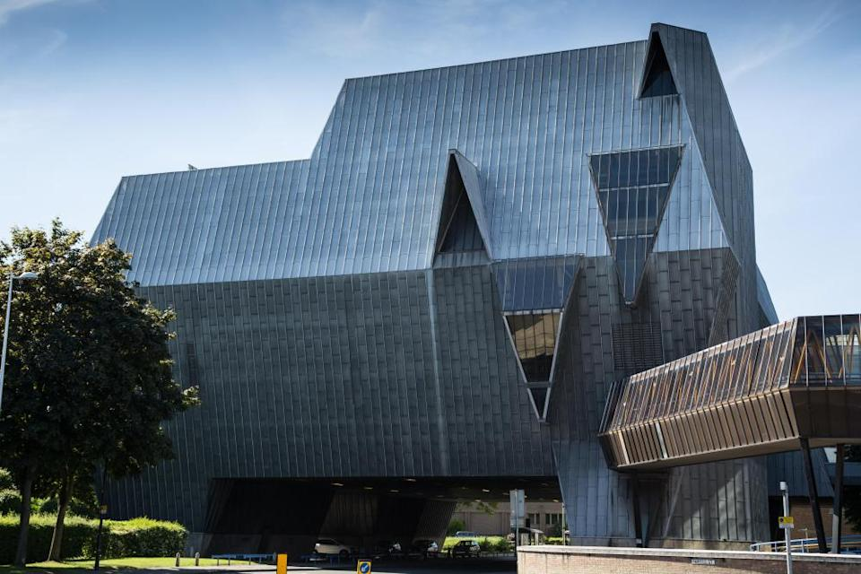the astonishing Coventry Sports and Leisure Centre, likened to the shape of an elephant.