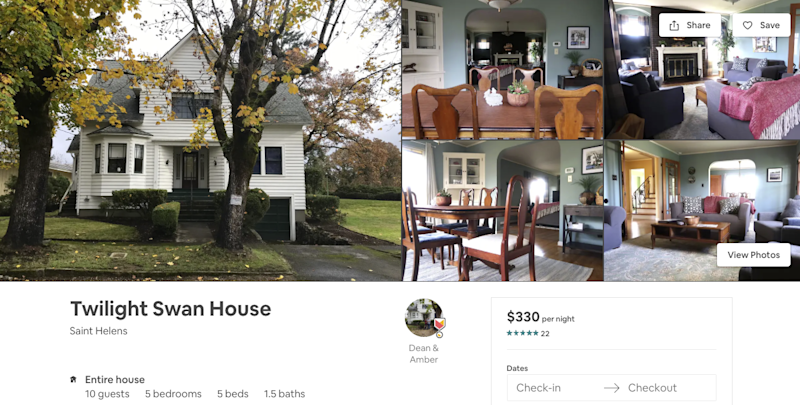 Pleasant Bella Swans Twilight House Is Now Available To Rent On Airbnb Download Free Architecture Designs Scobabritishbridgeorg
