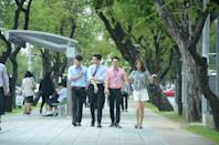"""<p> In this Korean drama series, Na Bong Sun is a chef who has a crush on a famous culinary hotshot. When a ghost possesses her, Bong Sun's newfound confidence catches the eye of her longtime crush.</p> <p><a href=""""http://www.netflix.com/title/80993625"""" class=""""link rapid-noclick-resp"""" rel=""""nofollow noopener"""" target=""""_blank"""" data-ylk=""""slk:Watch Oh My Ghost on Netflix now."""">Watch <strong>Oh My Ghost</strong> on Netflix now.</a></p>"""